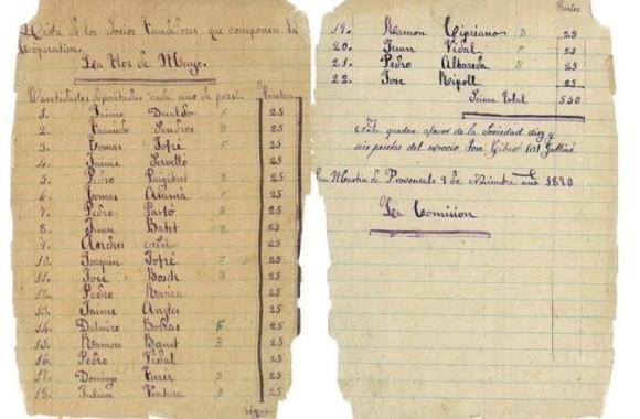 Documento 3.- 1890 Fundacion Cooperativa La Flor de Maig.