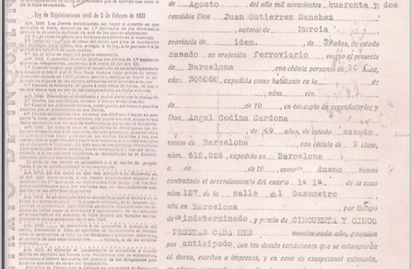 Documento 2.- 1942 Contrato Día Internacional del Archivo